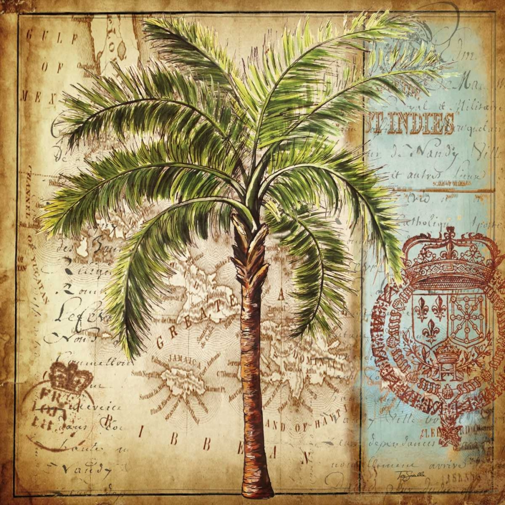 Antique Nautical Palms II Tre Sorelle Studios 59516