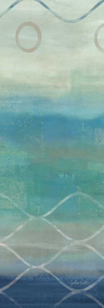 Abstract Waves Blue-Gray Panel II Coulter, Cynthia 53534