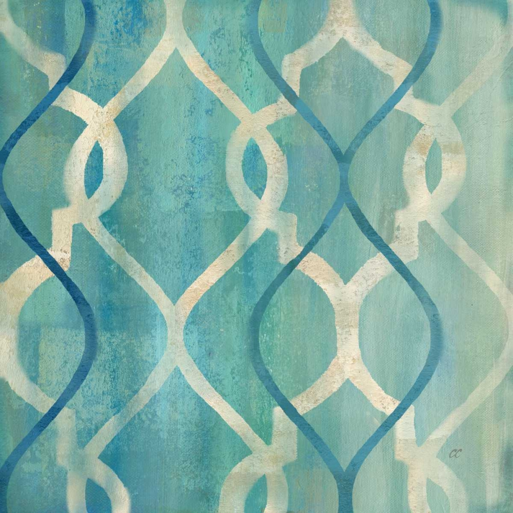 Abstract Waves Blue-Gray Tiles II Coulter, Cynthia 53549