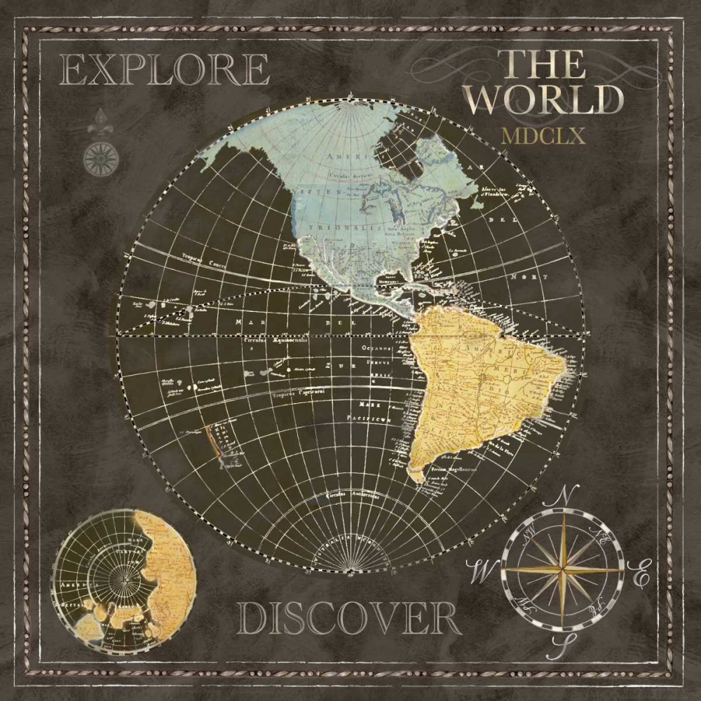 Old World Journey Map Black I Coulter, Cynthia 52928