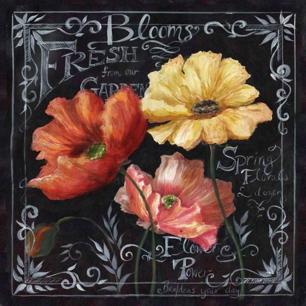 Flowers in Bloom Chalkboard II Tre Sorelle Studios 53010