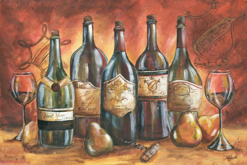 Red and Gold Wine Landscape Tre Sorelle Studios 53044