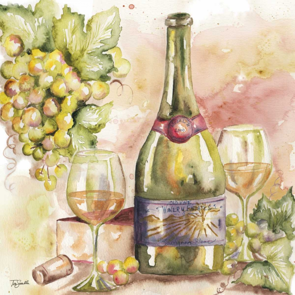 Watercolor Wine II Tre Sorelle Studios 70233