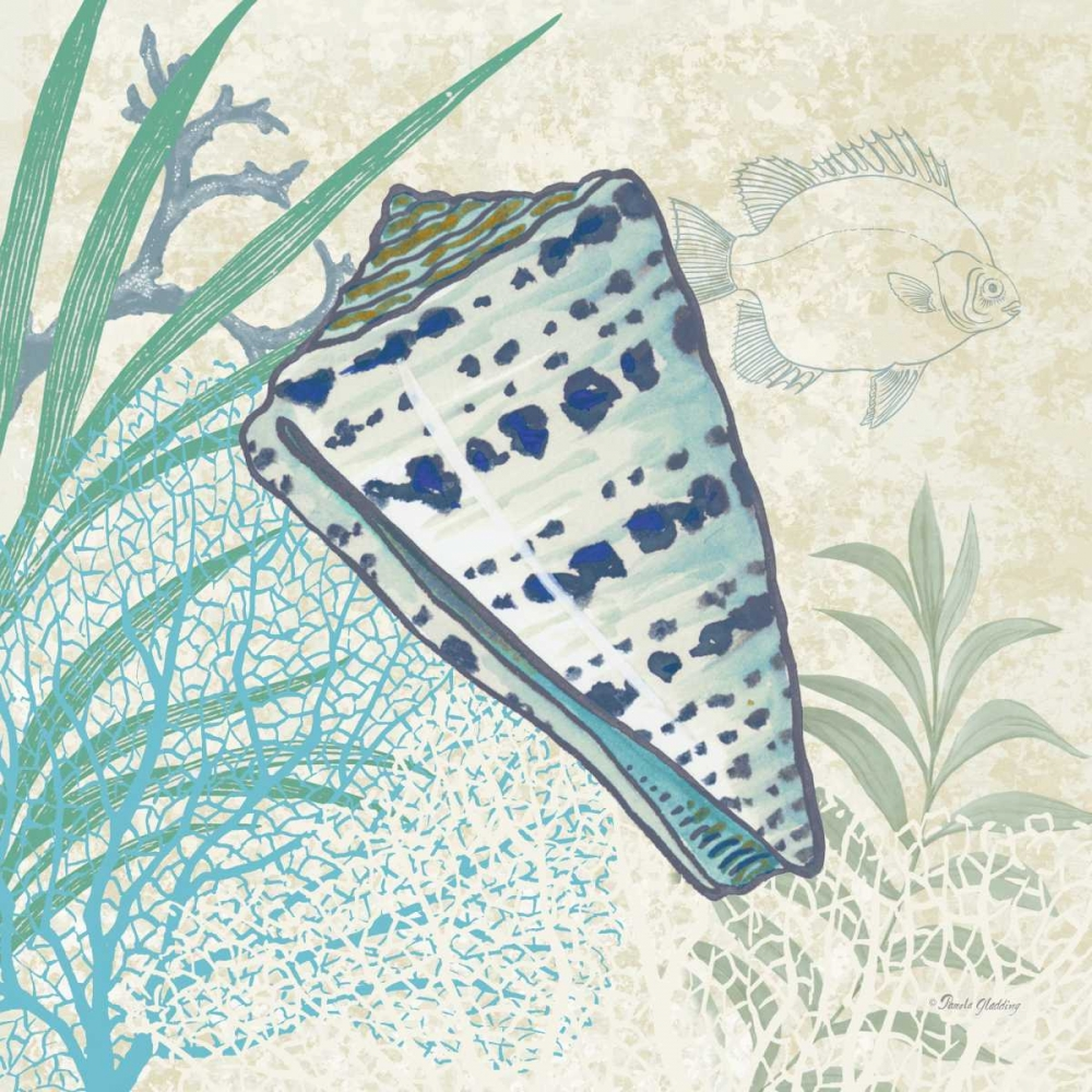 Oceana Indigo Shells I Gladding, Pamela 77987