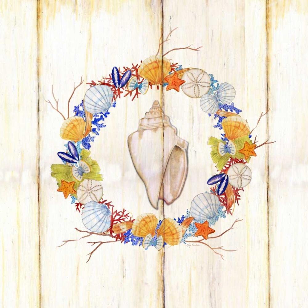 Coastal wreath and shell 1 Escobedo, Mary 105617