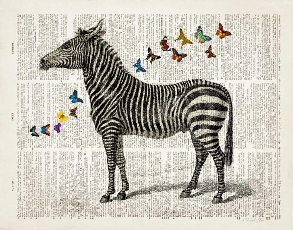 Zebra & Butterflies James, Christopher 142092