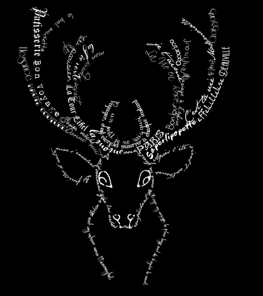 French Stag Black De Lauzun, Marion  61939