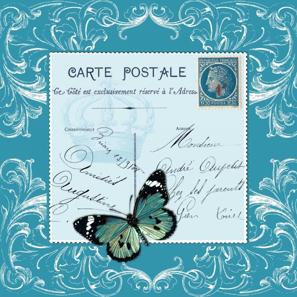 Butterfly Carte Postale Blue De Lauzun, Marion  61950