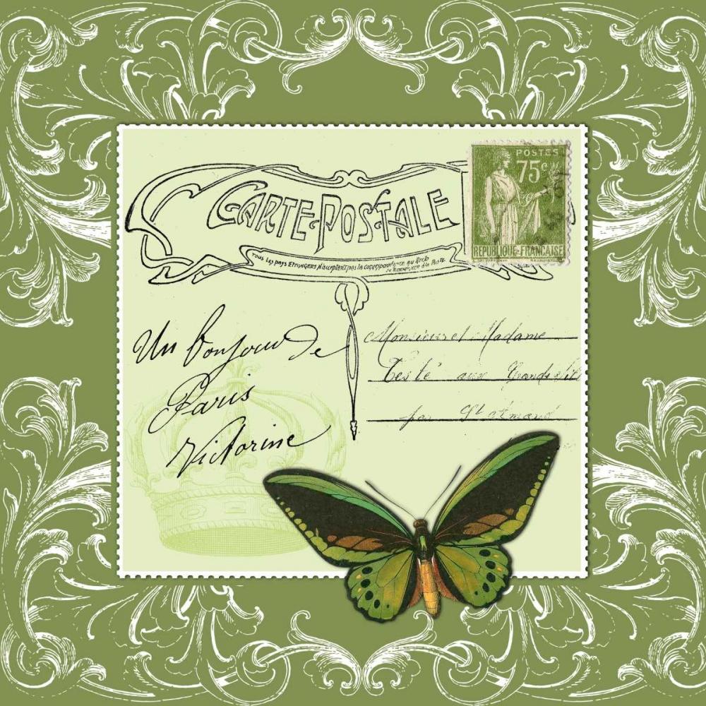 Butterfly Carte Postale Green De Lauzun, Marion  61951
