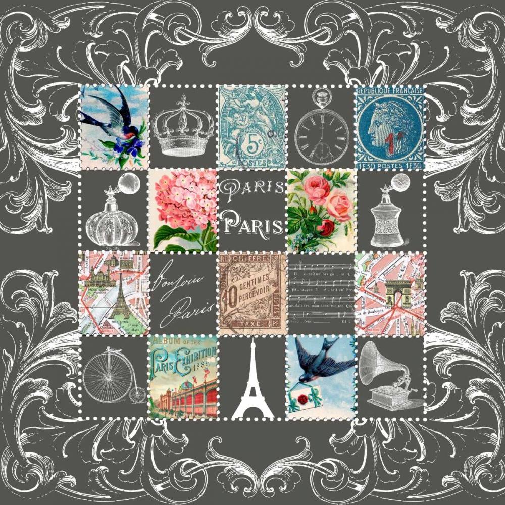 Paris Stamps Blue De Lauzun, Marion  61955