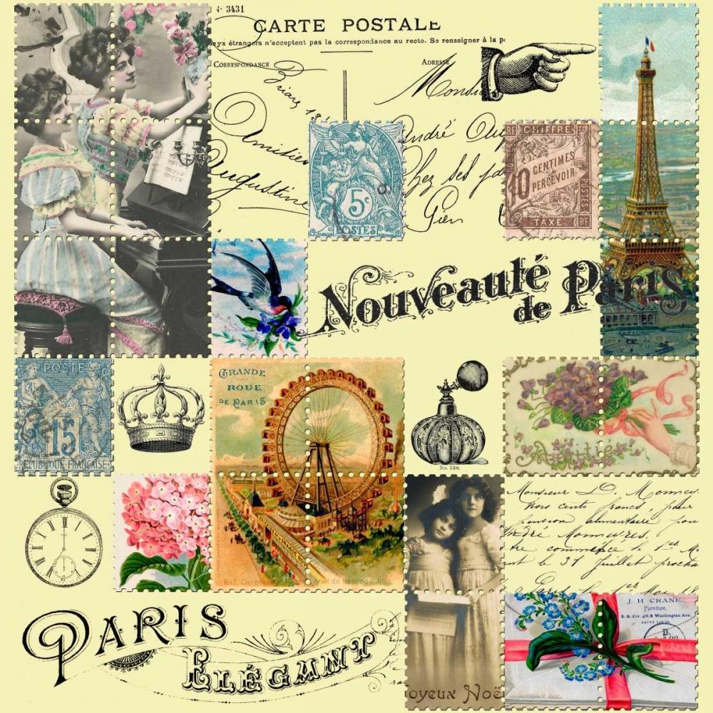 French Stamps Yellow De Lauzun, Marion  61960