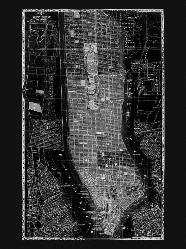 NY Map Circa 1865 Adam Shaw Cartography 142288
