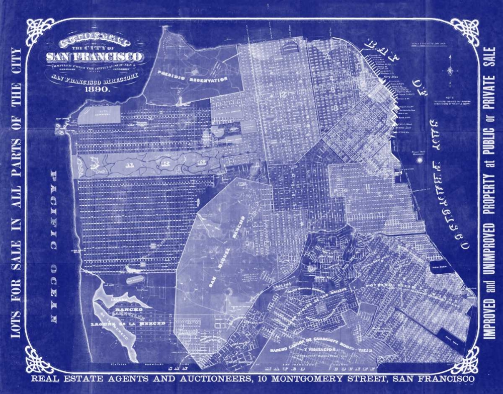 San Francisco Blueprint Adam Shaw Cartography 142293