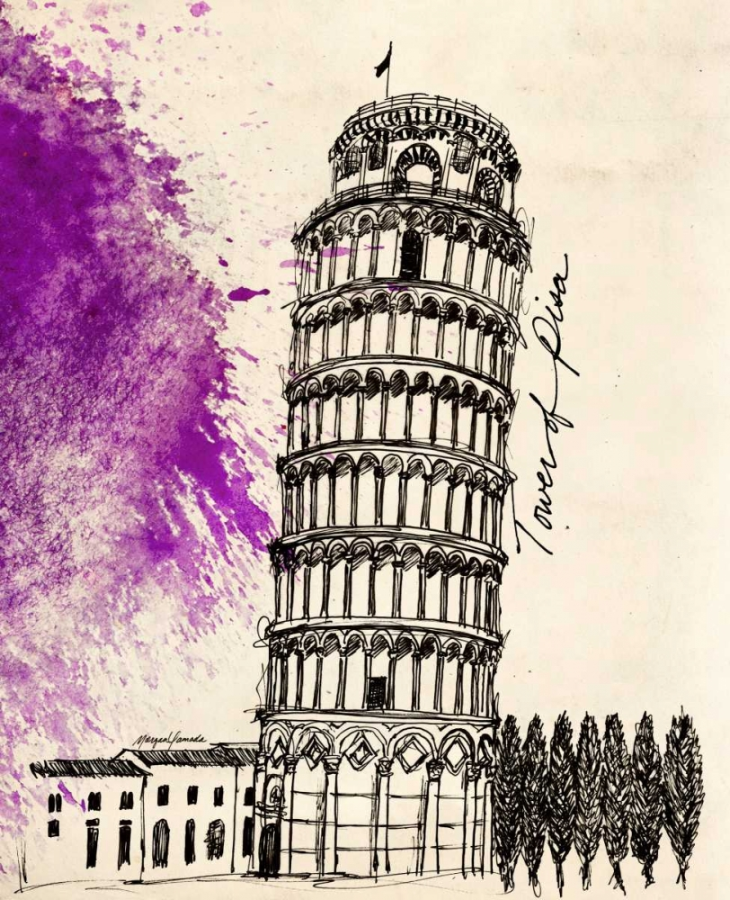 Tower of Pisa in Pen Yamada, Morgan 68693