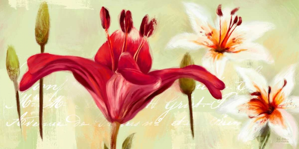 Bursting Lilies Garden 1 Art Atelier Alliance 66350