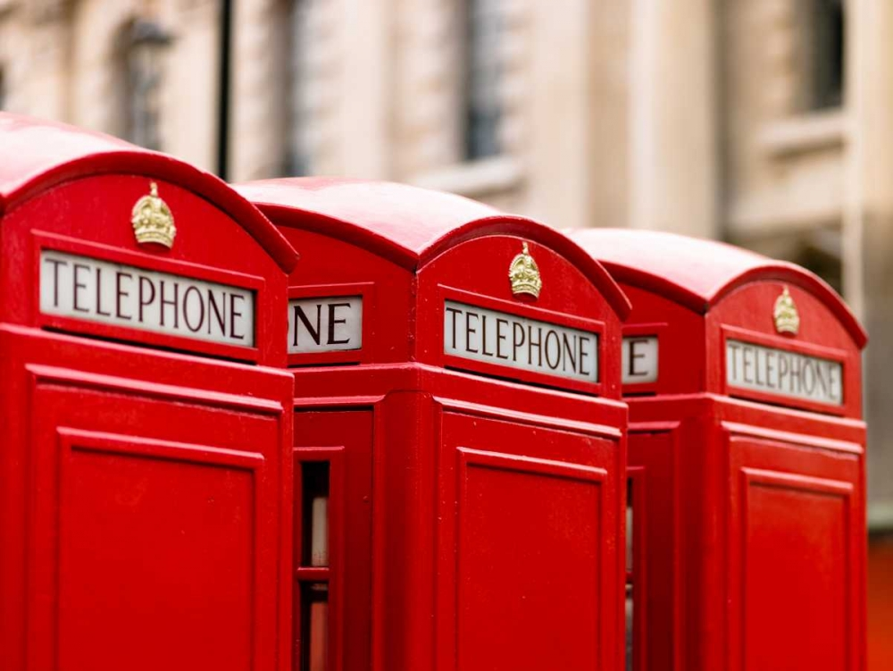 Close-up of telephone box in a row, England Frank, Assaf 103161