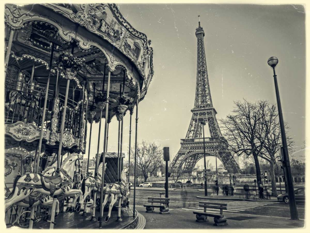Carousel with the Eiffel tower in the background Frank, Assaf 103325