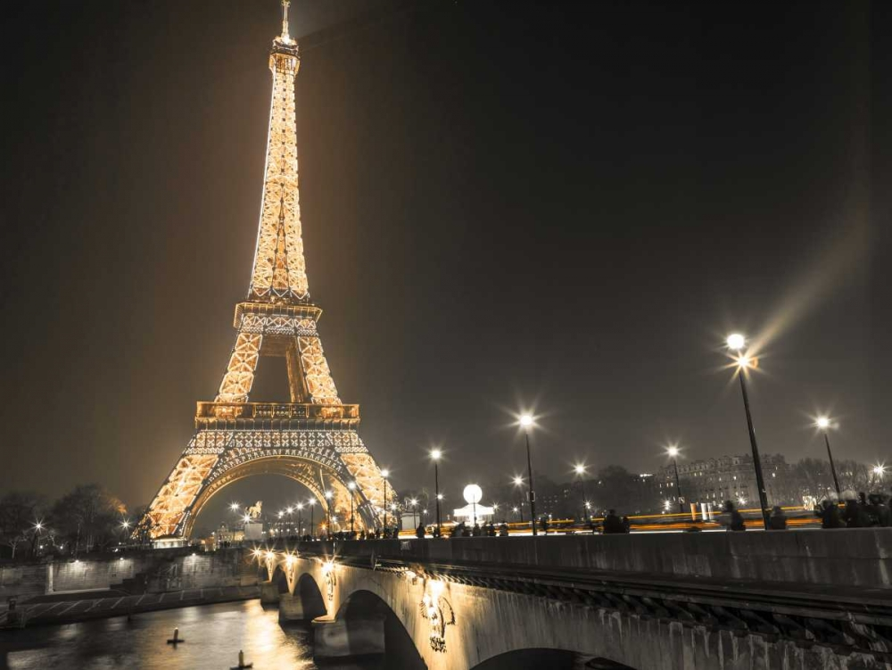 Eiffel tower at night over the river siene, Paris Frank, Assaf 103338