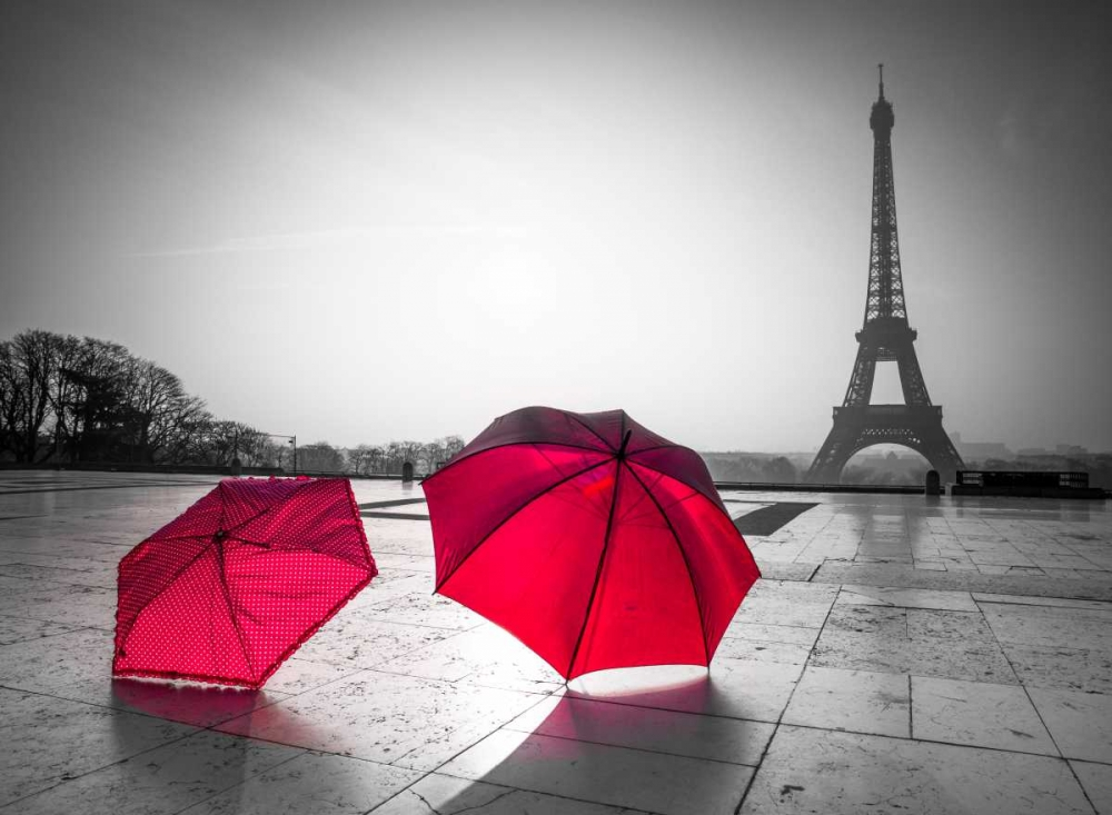 Two Umbrellas in front of the Eiffel tower, Paris, France Frank, Assaf 103345