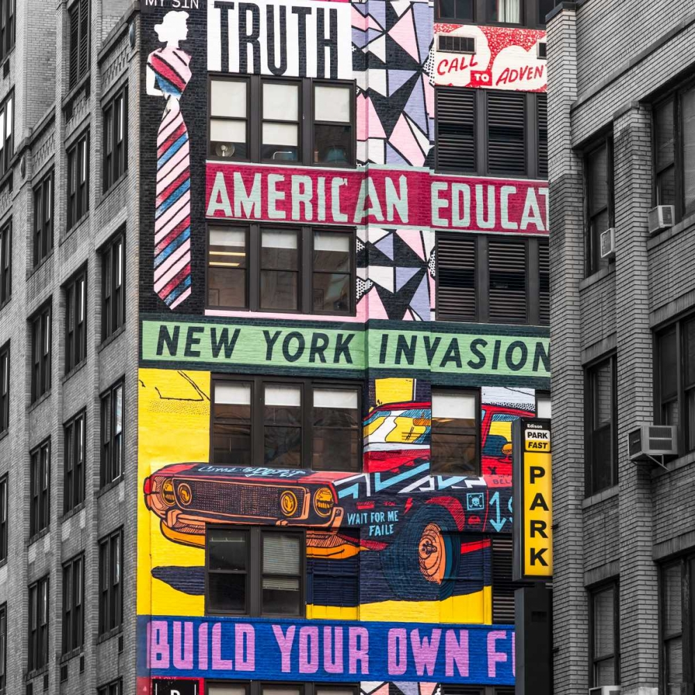 Advertisements on building exterior, New York Frank, Assaf 103484