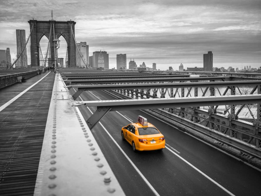 Cab on brooklyn bridge, Manhattan, New York Frank, Assaf 103517