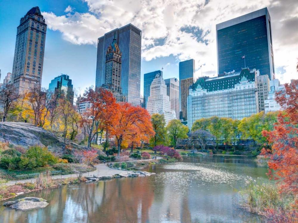 Pond at Central Park with Manhattan skyline, New York Frank, Assaf 103566