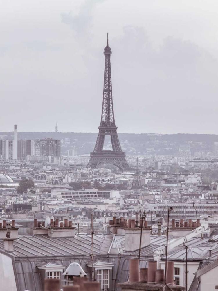 Eiffel Tower seen through the window of an apartment in Montmartre, Paris, France Frank, Assaf 103676