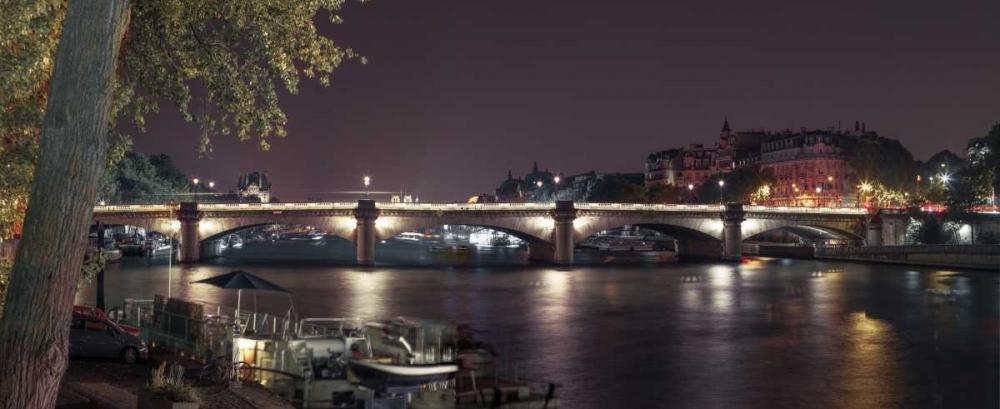 Evening shot of Bridge over river Seine, Paris, France Frank, Assaf 103702