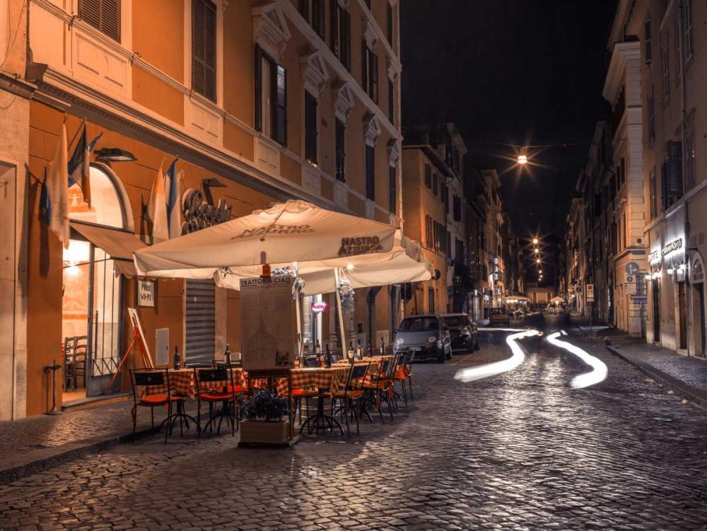 Sidewalk cafe on narrow streets of Rome, Italy Frank, Assaf 103745