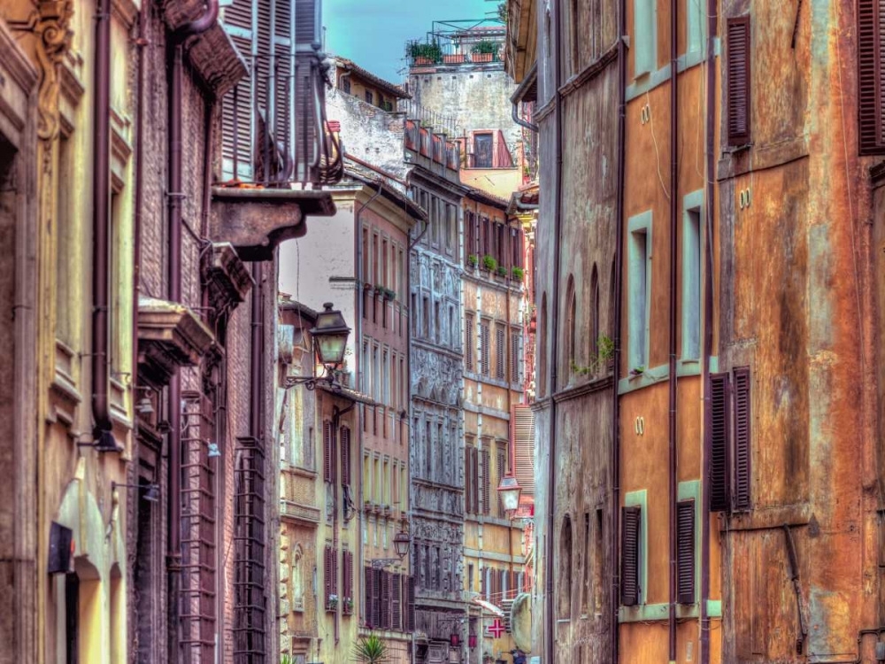 Narrow street through old buildings in Rome, Italy Frank, Assaf 103773