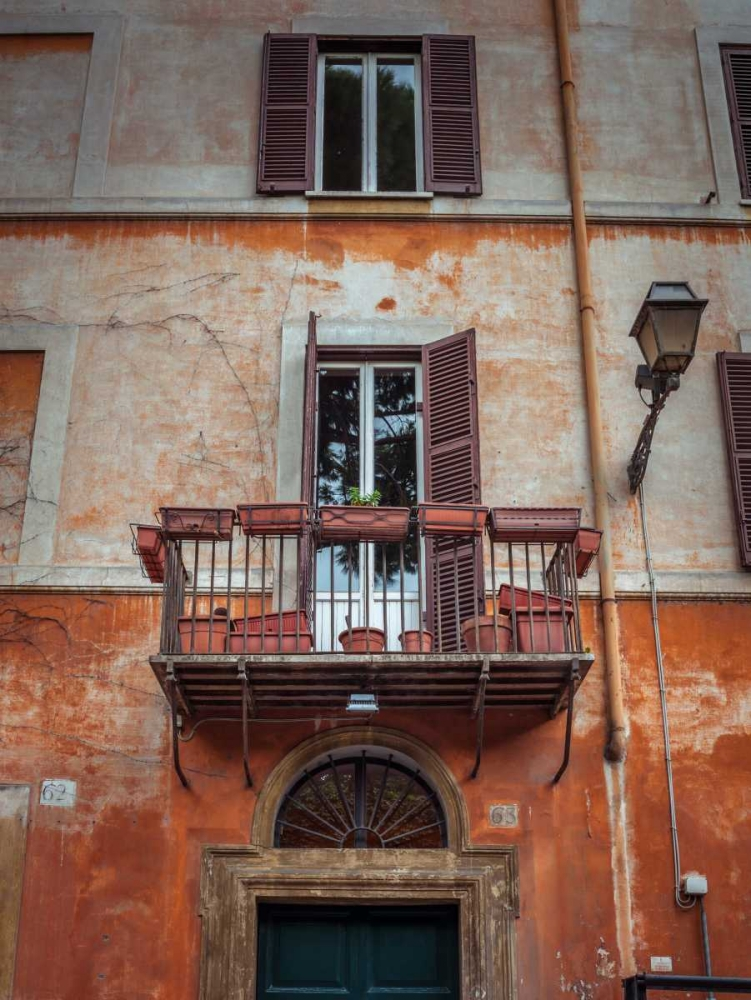 Old building with balcony in Rome, Italy Frank, Assaf 103782