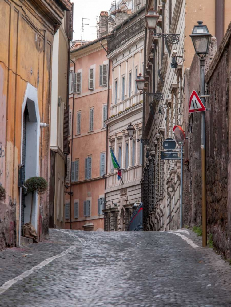 Narrow street through old buildings in Rome, Italy Frank, Assaf 103783