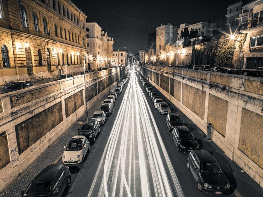 Strip Lights on road, Rome, Italy Frank, Assaf 103792