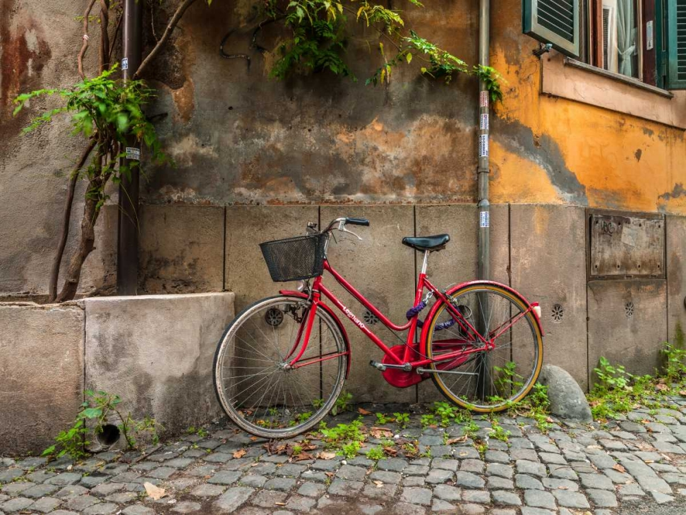 Bicycle outside old building, Rome, Italy Frank, Assaf 103813
