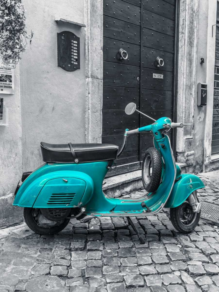 Old scooter on narrow street of Rome Frank, Assaf 103884
