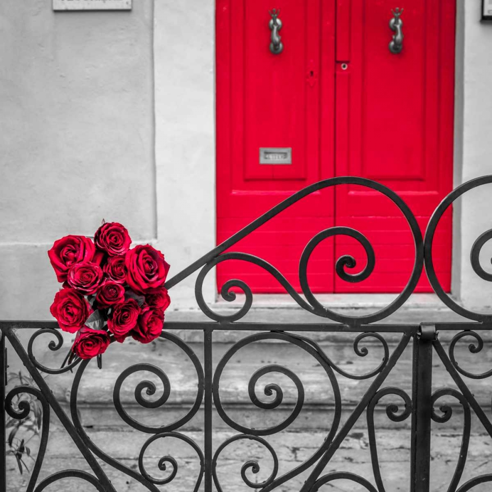 Bunch of roses on iron gate of an old house in Mdina, Malta Frank, Assaf 103947