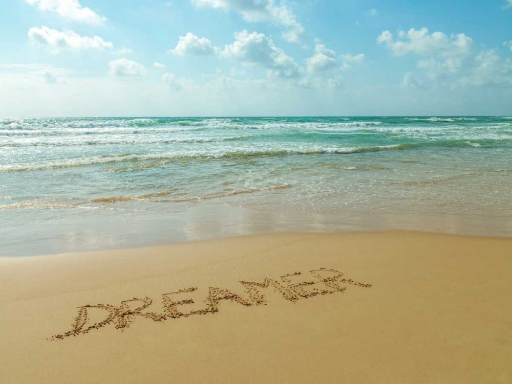 Word Dreamer written in sand on the beach Frank, Assaf 103979