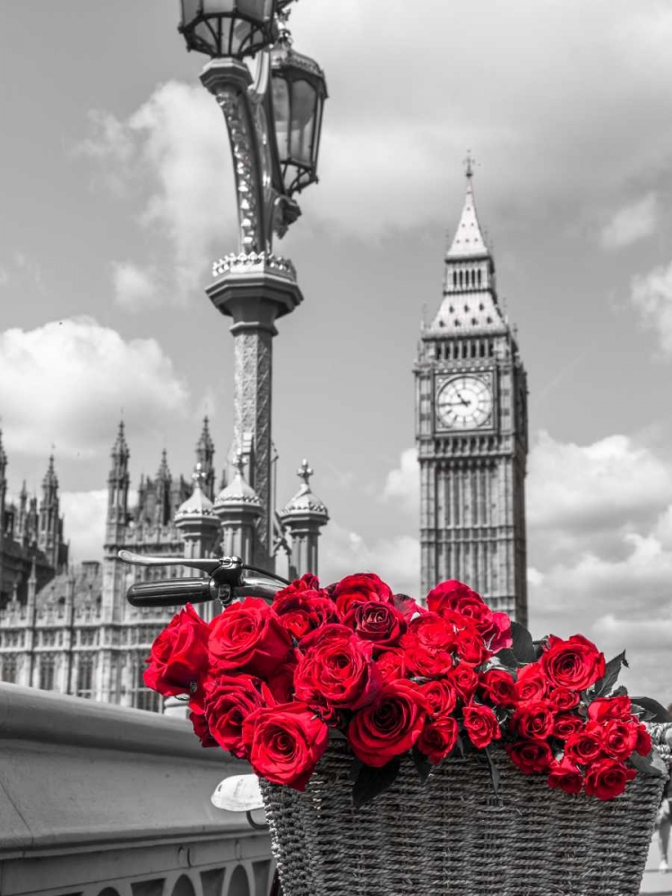 Bicycle with bunch of flowers on Westminster Bridge, London, UK Frank, Assaf 104000