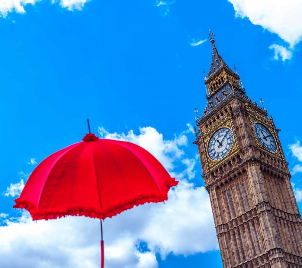 Big Ben with Red Umbrella, London, UK Frank, Assaf 104004