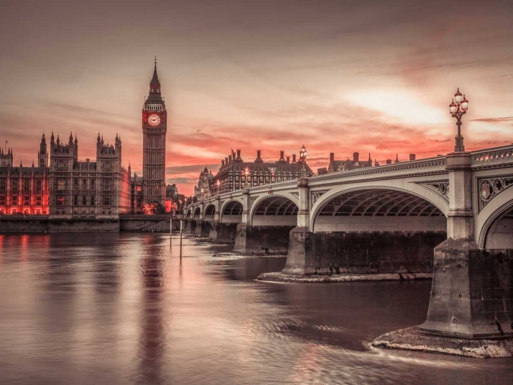 Westminster bridge and Big Ben from Thames promenade, London, UK Frank, Assaf 104078