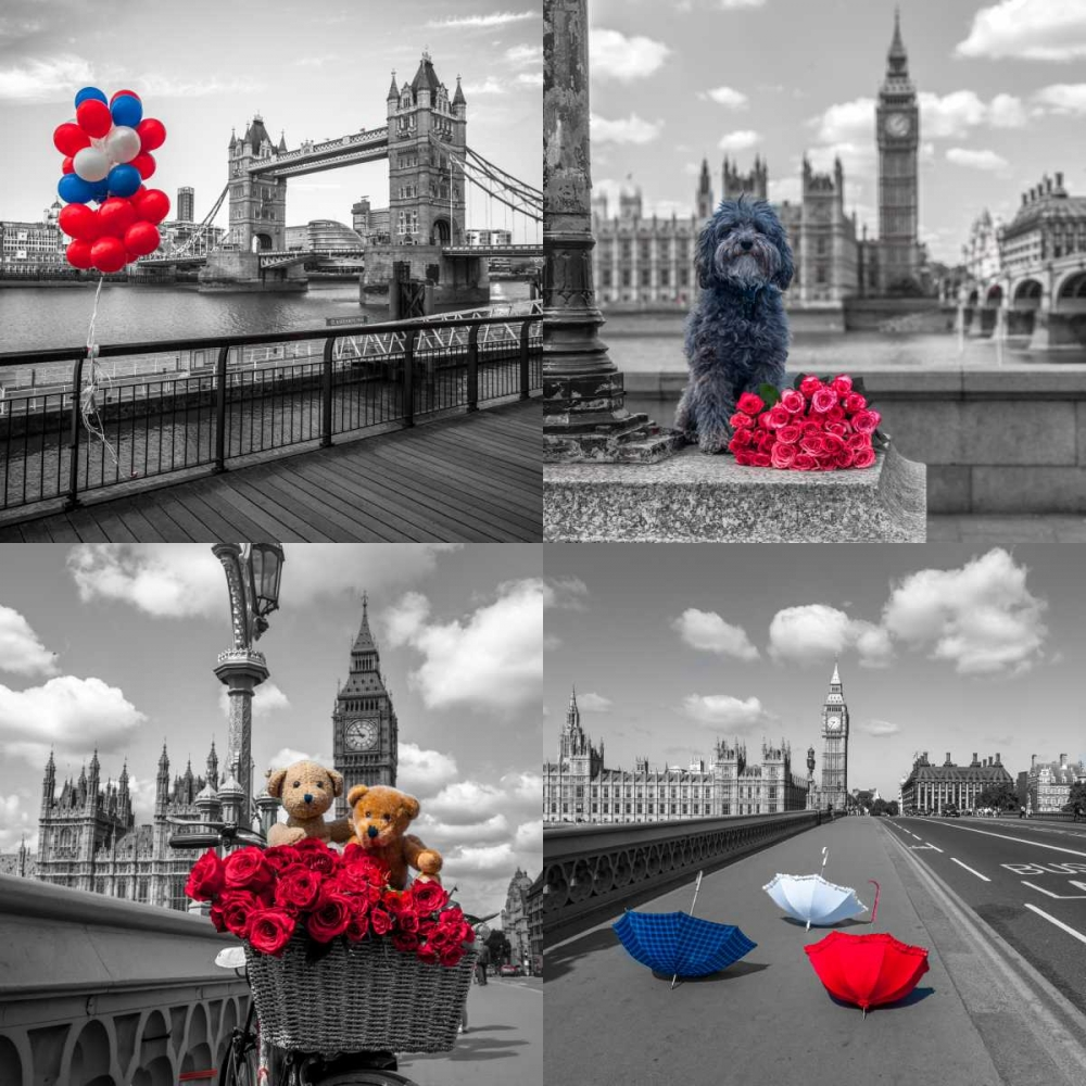 Collage of famous places in London city, UK Frank, Assaf 104122
