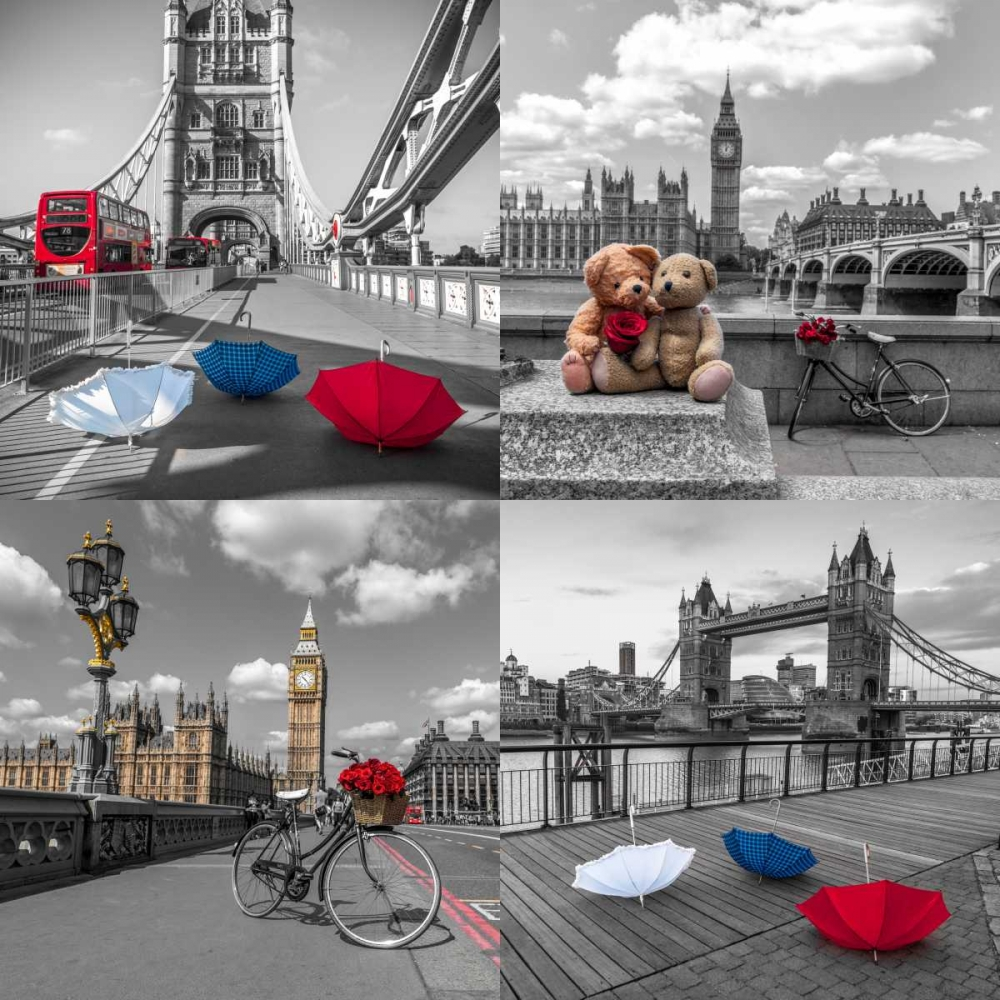Collage of famous places in London city, UK Frank, Assaf 104123