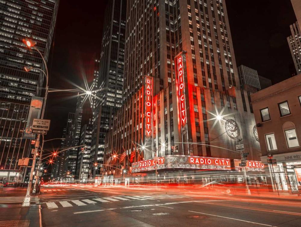 New York city stret in night Frank, Assaf 104272
