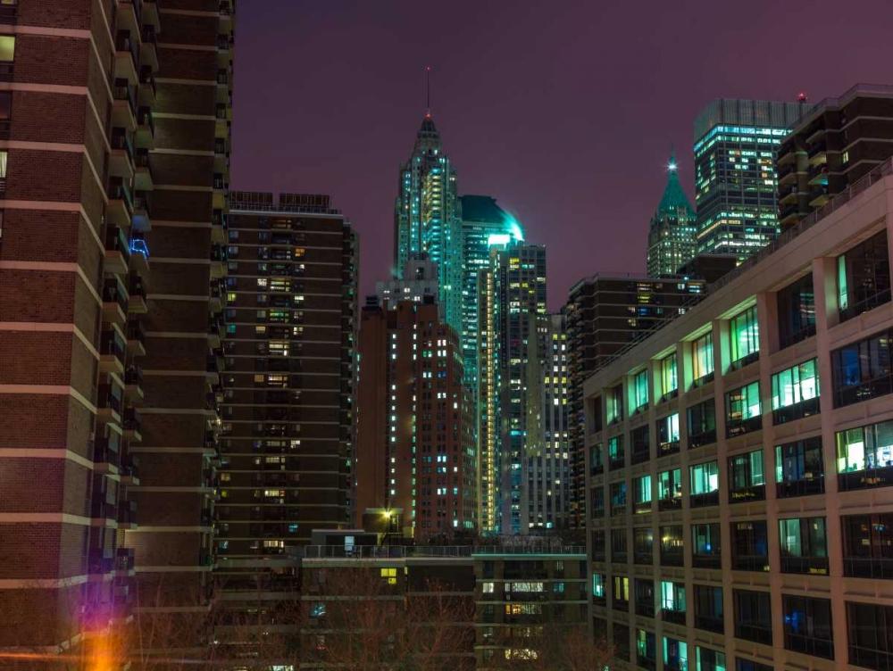 New York cityscape at night Frank, Assaf 104285
