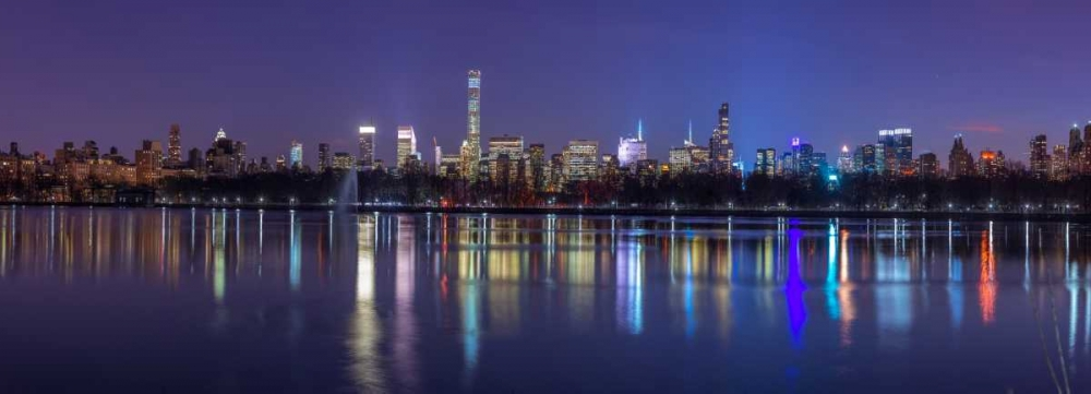 View of New York city skyline from Central park in evening Frank, Assaf 104296