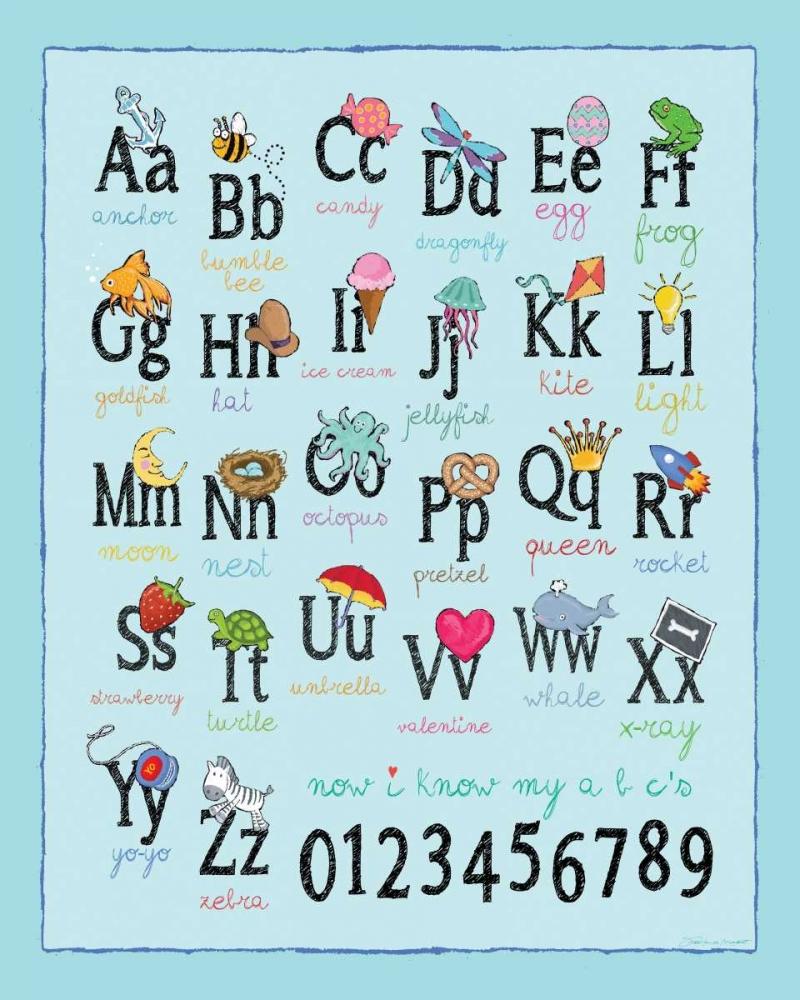Alphabet On Blue Marrott, Stephanie 107529