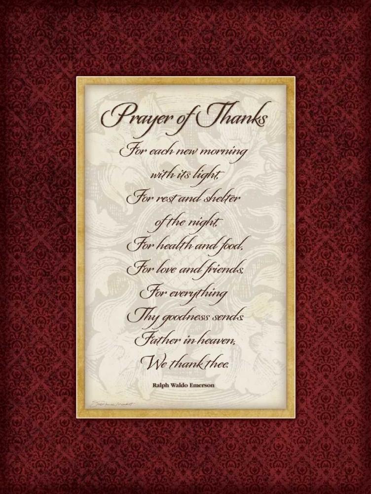 Prayer of Thanks Marrott, Stephanie 71558