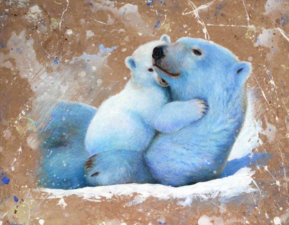 Polar bear with cub 02 Chamard, Jean-Marc 163380
