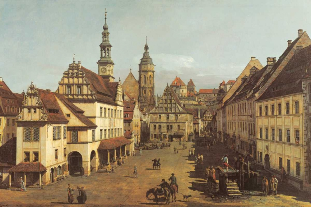 Marketplace In Pirna Canaletto 136854