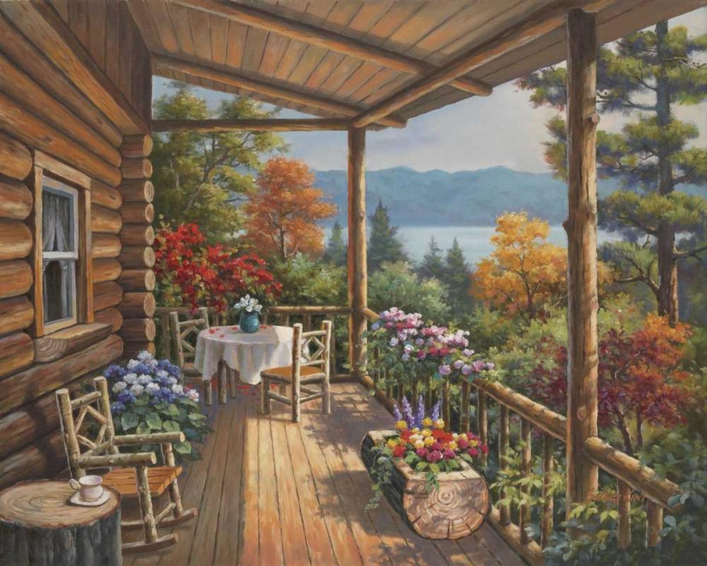 Log Cabin Covered Porch Kim, Sung 94899